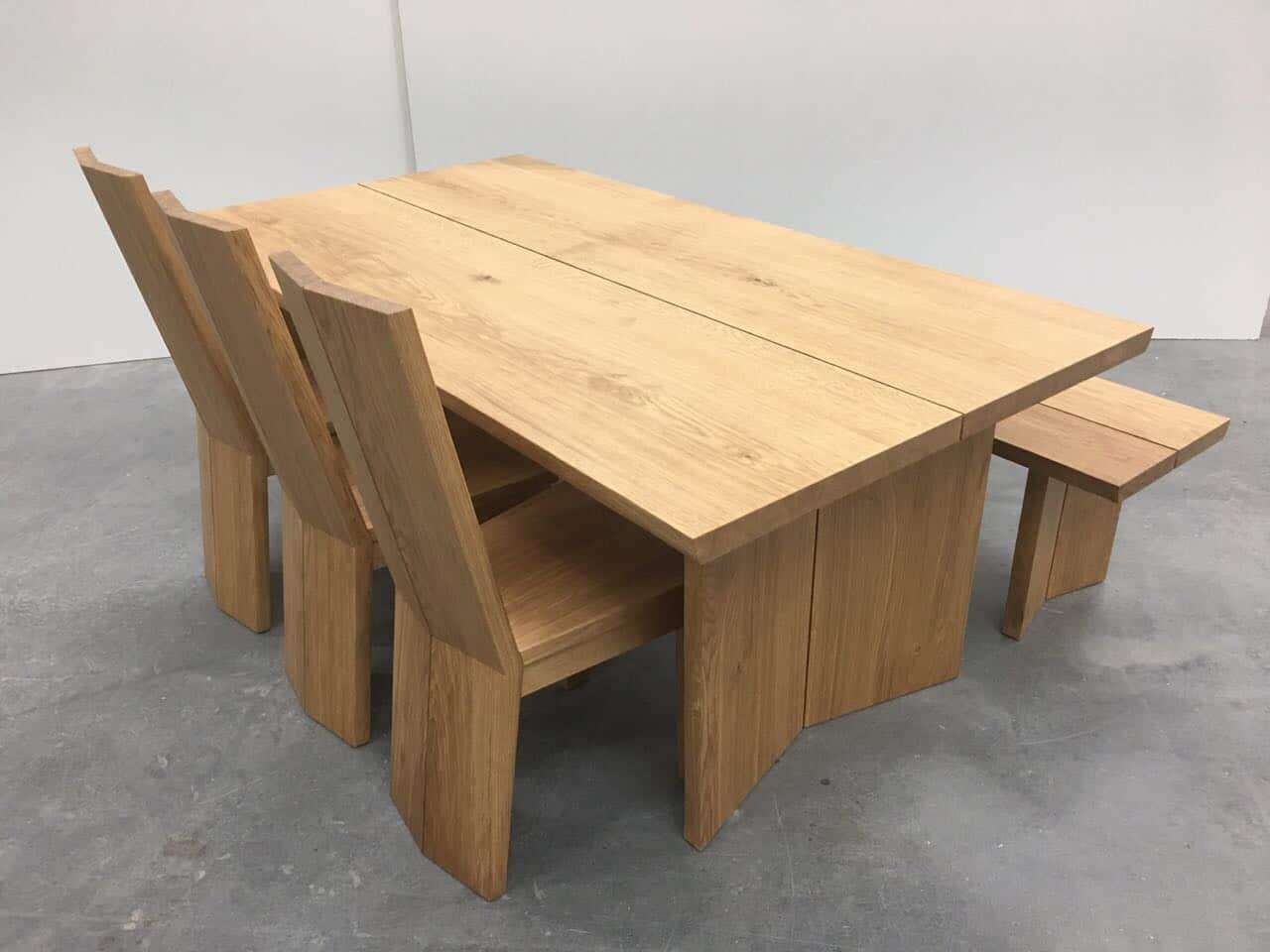 esszimmer eiche massiv hartwachsversiegelt tischlermeister philip sp th in langenfeld. Black Bedroom Furniture Sets. Home Design Ideas