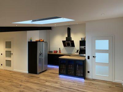 Küche matt schwarz, Eiche 2