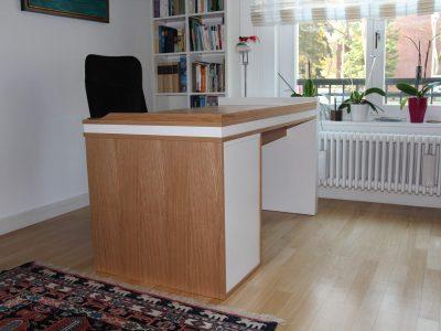 Schreibtisch Eiche,Weißlack 2