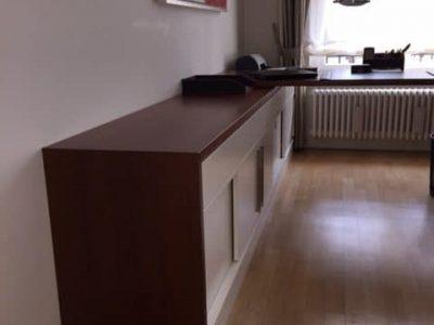 Schreibtischkombi Kirschbaum, Weißlack 1